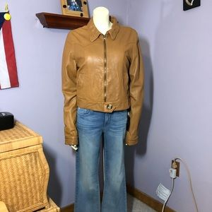 Mike & Chris Lambskin Leather Jacket